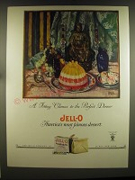 1926 Jell-O Dessert Advertisement - art by Marion Powers - A filling climax