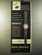 1950 Girard Perregaux Gyromatic Watch Ad - It winds itself!