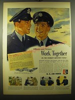 1950 U.S. Air Force Ad - Officers and airmen work together