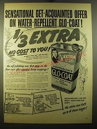 1950 Johnson's Glo-Coat Wax Ad - Sensational get-acquainted offer