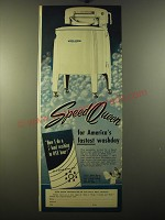 1950 Speed Queen Washing Machine Ad - Speed Queen for America's fastest washday