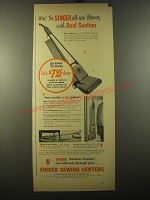 1950 Singer Vacuum Cleaners Advertisement