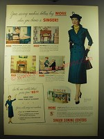 1950 Singer Sewing Centers Ad - Your sewing machine dollars buy more