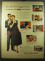 1950 Singer Sewing Centers Ad - Have clothes that look twice their price