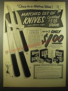 1950 Lever Products Ad - Rinso, Lux, Lifebuoy, Swan and Silver Dust