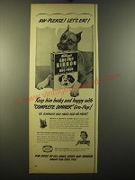 1950 Kellogg's Gro-pup ribbon dog food Ad - Aw-please! Let's Eat