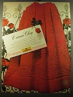 1950 Cannon Crimson Glory Towels Ad - Crimson Glory
