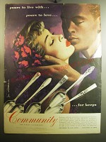 1950 Oneida Community Silver Ad - art by Jon Whitcomb - Yours to Love