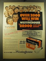 1950 Westinghouse Light Bulbs Ad - Over 2000 will win