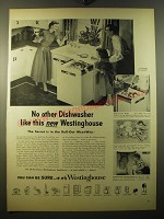 1950 Westinghouse Roll-Out WashWell Dishwasher Advertisement