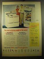 1950 Westinghouse Speed-Electric Range and Frost-Free Refrigerator Ad