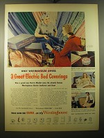 1950 Westinghouse Ad - Electric Blanket, Electric Comforter and Electric Sheet