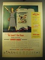 1950 Westinghouse Frost-Free Refrigerator Ad - At last! I'm free
