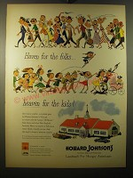 1950 Howard Johnson's Ad - Haven for the folks heaven for the kids