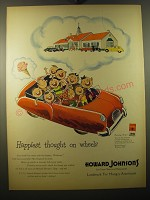 1950 Howard Johnson's Ad - Happiest thought on wheels