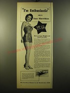 1950 Ayds Weight Loss Ad - I'm Enthusiastic says Ann Sheridan
