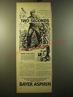 1950 Bayer Aspirin Ad - In 14.5 seconds a champion corn husker husks 10 pounds