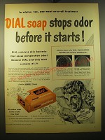 1950 Dial Soap Advertisement - Dial Soap stops odor before it starts