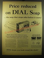 1950 Dial Soap Ad - Price reduced on dial soap