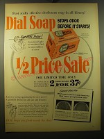 1950 Dial Soap Ad - First really effective deodorant soap in all history!