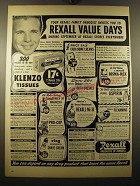 1950 Rexall Drug Stores Ad - Dick Powell - Your Rexall family druggist