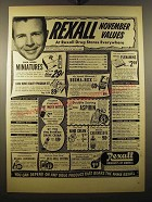 1950 Rexall Drug Stores Ad - Dick Powell - Rexall November Values