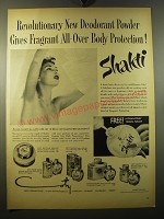 1950 Coty Shakti Deodorant Powder Ad - Revolutionary
