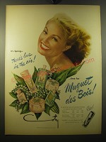 1950 Coty Muguet des Bois Perfume Ad - It's spring - there's love in the air