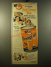 1950 Hi-C Orange-ade Ad - It's refreshing Fresh Orange Tang makes you Glad