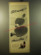 1950 Hires Root Beer Ad - Got a minute? - Ping-Pong
