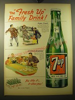 1950 7up Soda Ad - The fresh up family drink