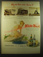 1950 White Rock Water Ad - Why are these rocks famous?
