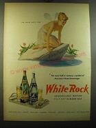 1950 White Rock Water Ad - The White Rock Girl