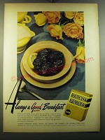1950 Sunsweet Prune Juice Ad - Always a good breakfast