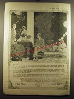 1913 Ivory Soap Ad - The night is perfect and the scene on the lawn