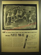 1950 Playtex Pink-Ice Girdle Ad - most talked about in the USA