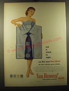 1950 Van Heusen Van Chick Shirts Ad - Not a stitch in sight