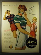 1950 Jantzen Man-Tailored Sunclothes Ad - art by Pete Hawley