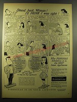 1950 Owens-Corning Fiberglas Ad - Stand back Woman! I'll prove I was right