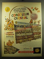 1950 Congoleum-Nairn Rugs Ad - New Floor, covering patterns on parade
