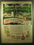 1950 Sherwin-Williams House Paint Ad - Know the truth before you buy house paint