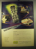 1950 IBM Computers Ad - Electronics at work