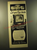 1950 General Electric Black-Daylight Television Model 12T7 Advertisement