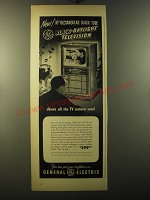 1950 General Electric Black-Daylight Television Model 16C110 Advertisement