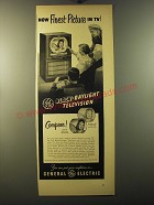 1950 General Electric Black-Daylight Television Model 12C107 Advertisement