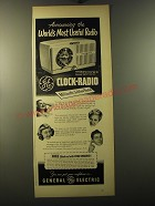 1950 General Electric Clock-Radio Model 506 Advertisement