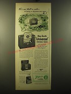 1950 Zenith Universal Portable Radio Ad - For a new thrill in radio at home