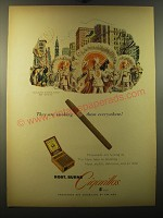 1950 Robt. Burns Cigarillos Ad - Philadelphia Mummers Parade New Year's Day