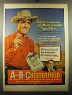 1950 Chesterfield Cigarettes Ad - Tyrone Power - Make my brand your brand