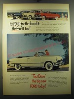 1950 Ford Cars Ad - It's Ford for the fun of it ..thrift of it, too